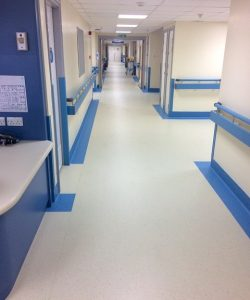 Leading commercial flooring specialists, A Cumberlidge, have fitted over 1,500 square metres of brand new flooring as part of a ward refurbishment at Barnsley District General Hospital.
